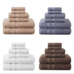 Home Expressions Solid Bath Towel Set ((6 Towels))
